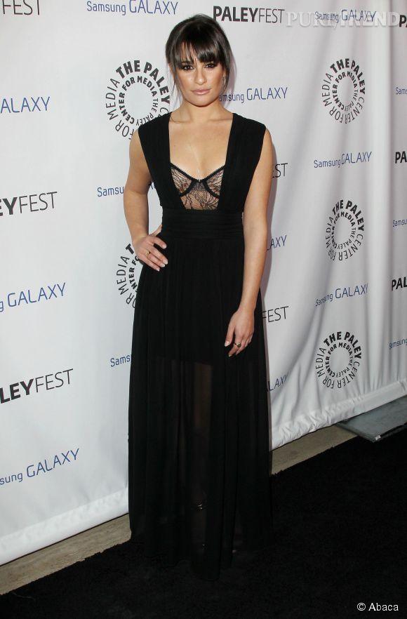 Lea Michele sexy en robe esprit guêpière