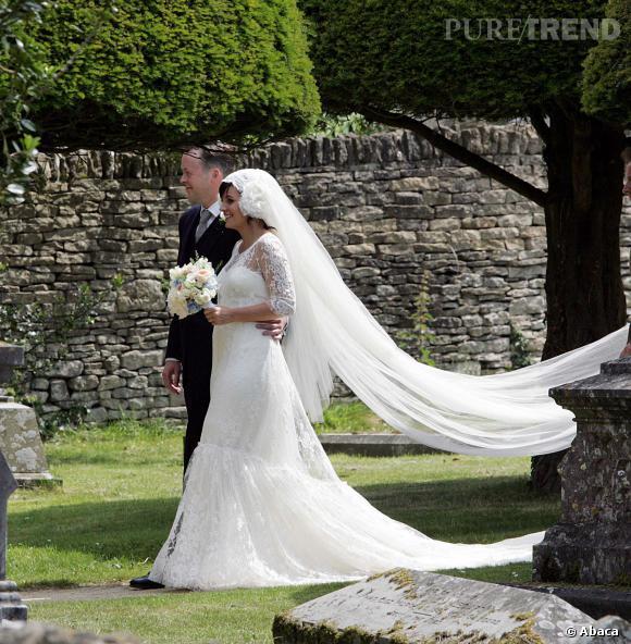 Lily Allen lors de son mariage avec Sam Cooper.