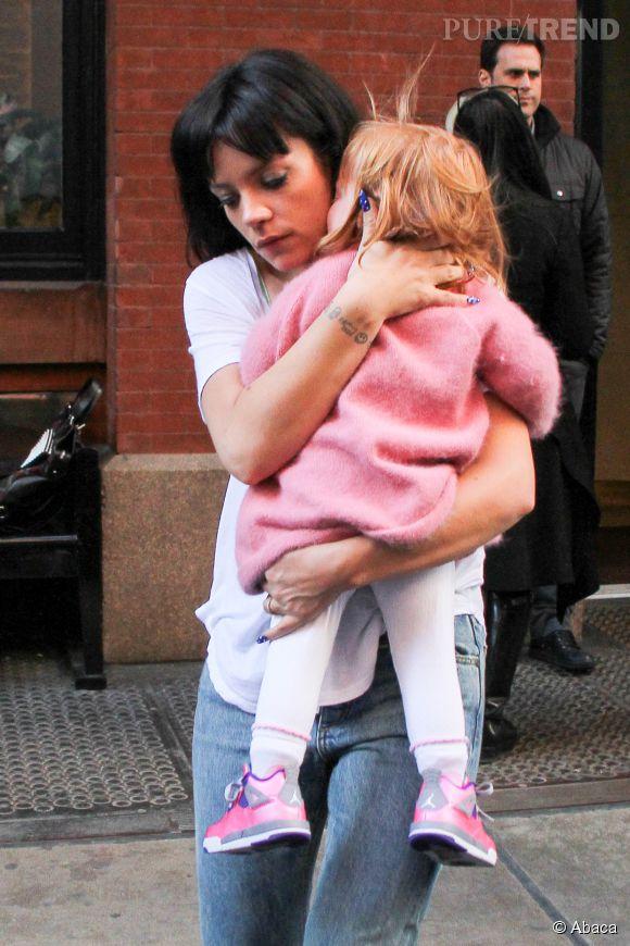 Lily Allen et sa fille Ethel.