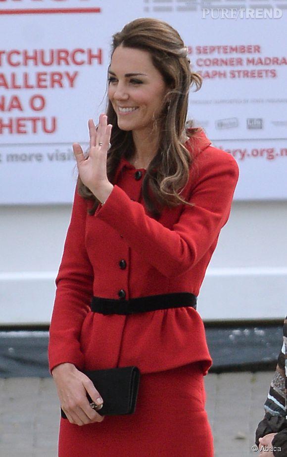 Kate Middleton et le Prince William à Christchurch en Nouvelle Zélande le 14 avril 2014.