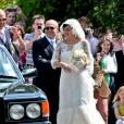 Lily Allen le 13 juin 2011, lors de son mariage avec Sam Cooper.