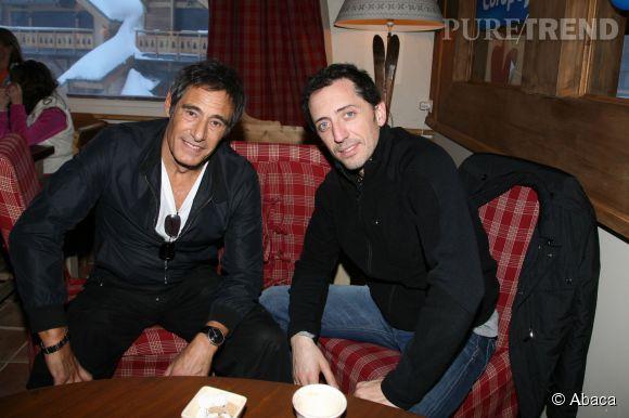 Gérard Lanvin et Gad Elmaleh en janvier 2009 au Festival International du Film de Comédie de l'Alpe d'Huez.