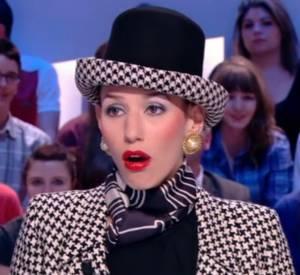 Doria Tillier transformée en Geneviève de Fontenay dans sa météo du 2 avril 2014 sur Canal+.