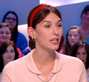 Doria Tillier, la bourgeoise du 7ème arrondissement de Paris lors de sa météo du 19 février 2014 sur Canal+.