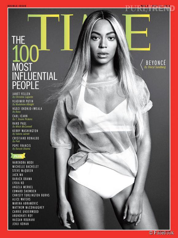 """Beyoncé a publié la couverture du Time Magazine sur son Facebook avec pour légende ces quelques mots : """"Tellement honorée""""."""