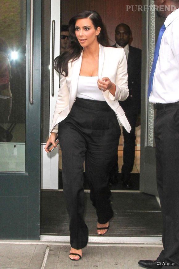 Kim Kardashian chez Lanvin avant la soirée du MET Ball 2014.