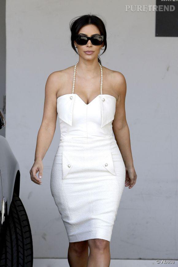 "Kim Kardashian a fêté sa ""bridal shower"" à Beverly Hills, le 10 mai 2014."