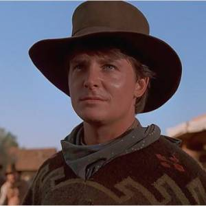"""Michael J. Fox devient Marty Mc Fly, qui devient Clint Eastwood dans """"Retour vers le Futur""""."""