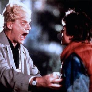"""Michael J Fox et Christopher Lloyd dans """"Retour vers le Futur""""."""