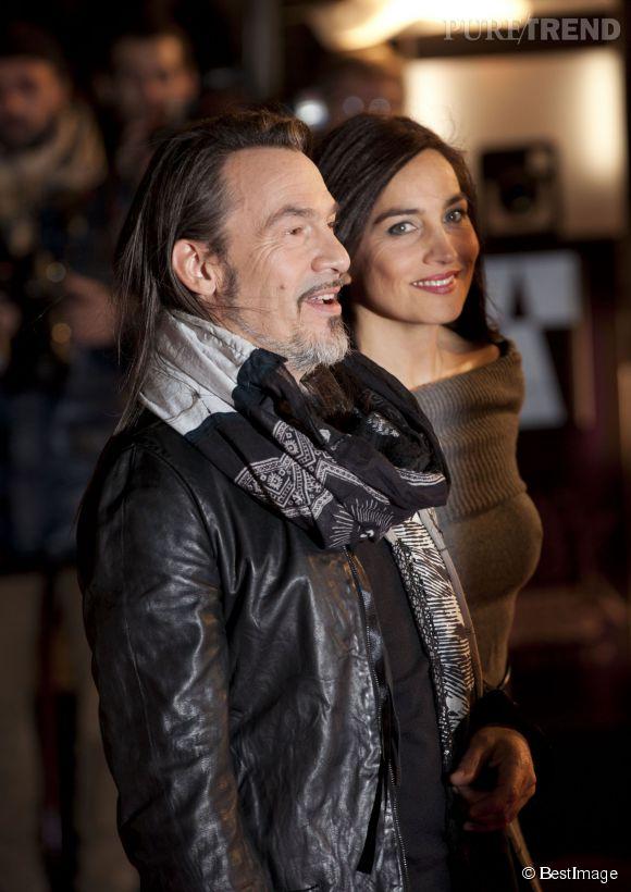 Florent Pagny, Azucena Pagny et leur fille Aël lors de la 15ème édition des NRJ Music Awards à Cannes en décembre 2013.