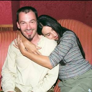 Florent Pagny et Azucena en lors d'une soirée chez Castel en septembre 1999.