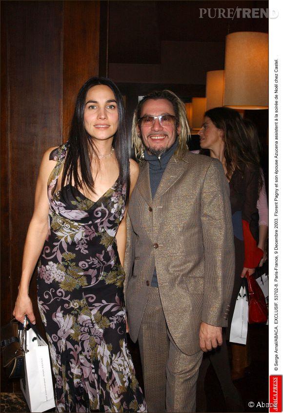 Florent Pagny et sa femme Azucena en décembre 2003.