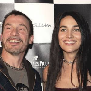 Florent Pagny et sa femme Azucena au Festival de L'Automobile en janvier 2006.