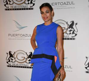 Rosario Dawson à la soirée Puerto Azul à Cannes le 21 mai 2014.