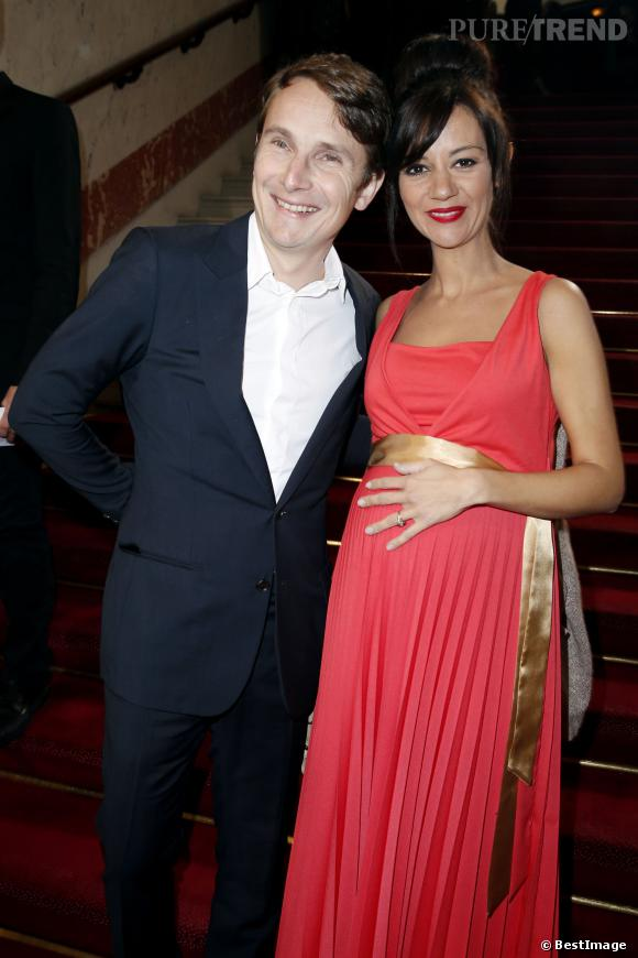 Lorànt Deutsch et sa femme Marie-Julie Baup aux César 2014, la future maman révélait son babybump.