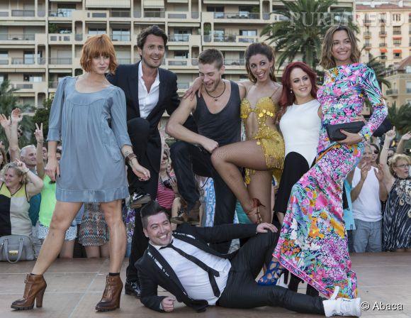 """Sandrine Quétier et toute l'équipe de """"Danse avec les Stars"""" pour un show exclusif au Festival de Monte-Carlo, le 8 juin 2014."""
