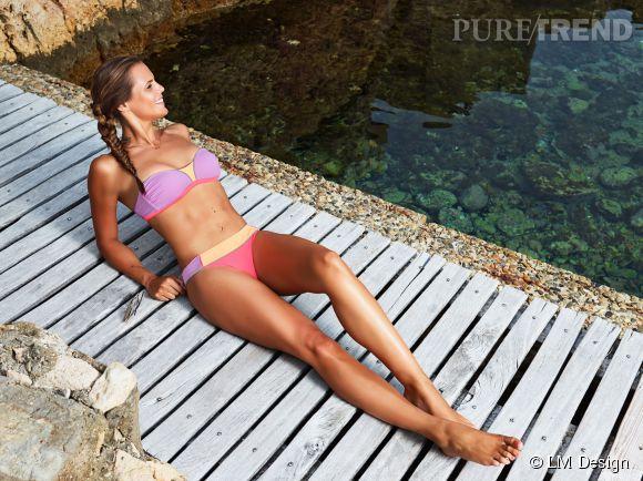 Laure Manaudou prend la pose pour sa marque de maillots de bain LM Design. Ses maillots sont à la fois sexy et innovants.