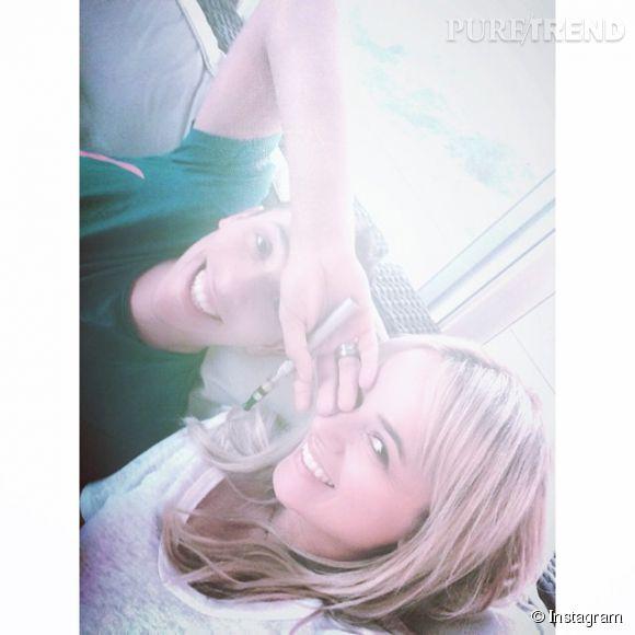 Alizée et Grégoire, l'amour parfait sur Instagram. Le 11 juin 2014, le couple a posté cet adorable selfie.