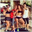 Irina Shayk et ses copines au sport.