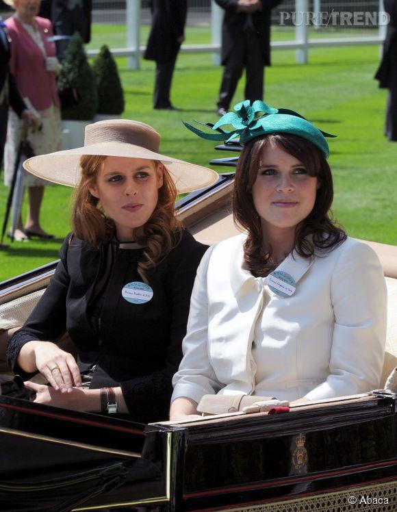 Beatrice d'York et Eugenie d'York à Ascot en 2011.