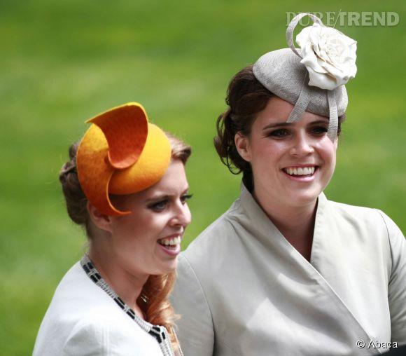 Beatrice d'York et Eugenie d'York à Ascot en 2014.