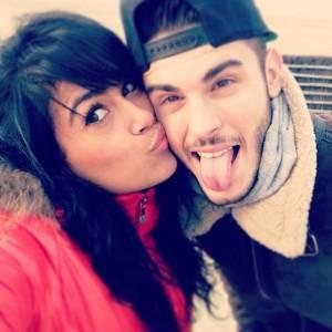Sarah et Baptiste Giabiconi sur Instagram en 2014.