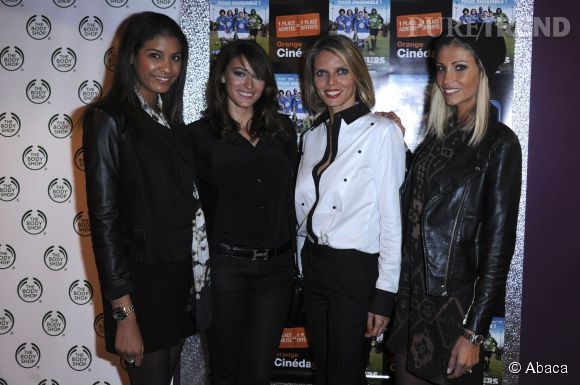 Rachel Legrain-Trapani avec les autres Miss Chloe Mortaud, Sylvie Tellier et Alexandra Rosenfeld.