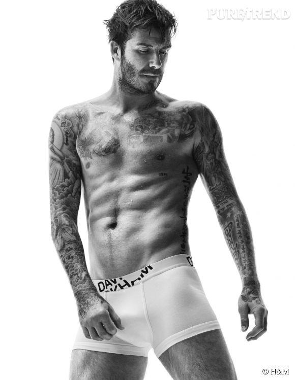David Beckham met encore une fois le paquet pour promouvoir sa ligne David Beckham Bodywear pour H&M.