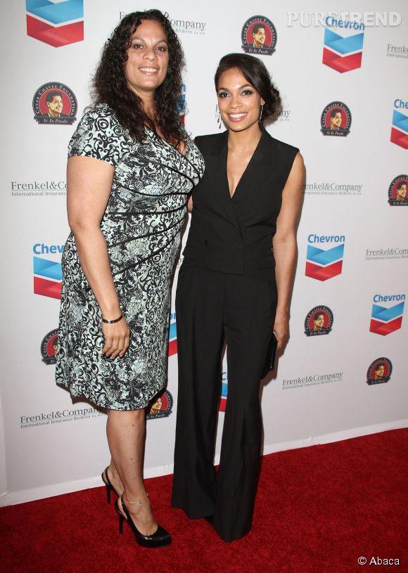 Rosario Dawson et sa (grande) maman Isabel en 2014.
