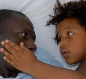 Sandrine Diouf a posté un photo-montage de sa vie de famille avec Mouss Diouf sur Twitter, le 7 juillet 2014.