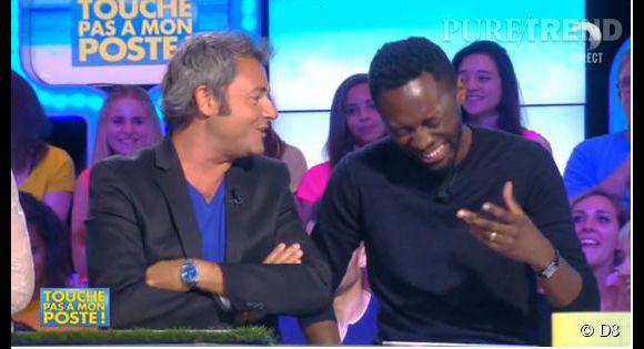 Thomas Ngijol, l'autre invité de TPMP le 9 juillet 2014, s'amuse de la situation gênante dans laquelle se retrouve Jérôme Anthony.