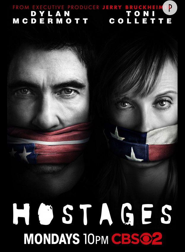 """Dylan McDermott et Toni Collette dans """"Hostages"""" sur TF1 depuis le 26 juin 2014."""