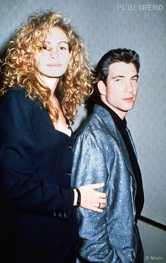 Julia Roberts et Dylan McDermott en 1988.