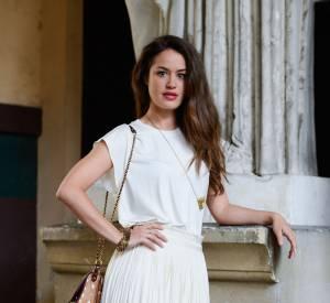 Alice David au défilé Vionnet Haute Couture Automne-Hiver 2014/2015 à Paris le 9 juillet 2014.
