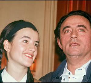 Romane Bohringer et son père Richard Bohringer lors de la remise du prix Georges de Beauregard en 1992.