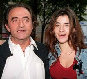 Romane Bohringer et son père en 1999.