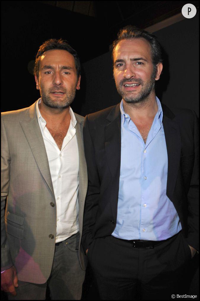 Gilles lellouche et son meilleur ami l 39 acteur jean for Dujardin et lellouche