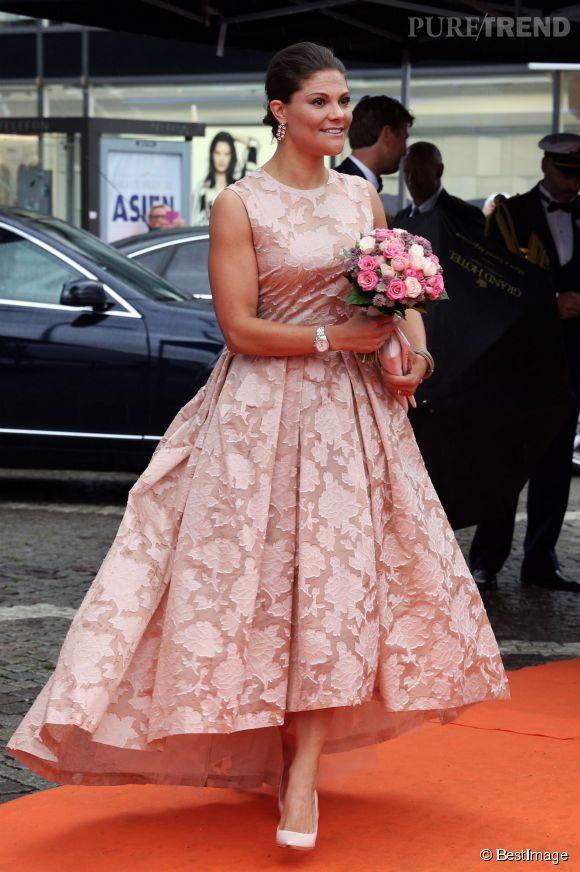 La princesse Victoria de Suède lors du Polar Music Prize 2014 à Stockholm.