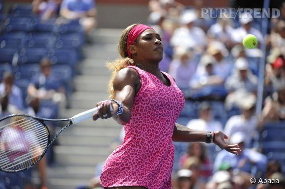Serena Williams, léopard rose à l'US Open.