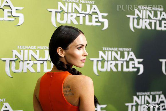 """Megan Fox à Sydney pour la première de """"Teenage mutant ninja turtles"""" le 7 septembre 2014."""