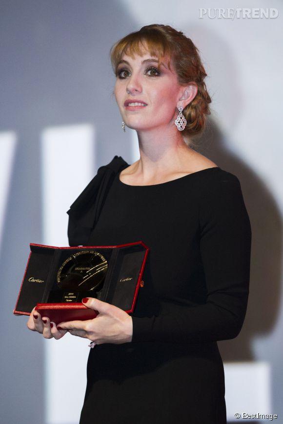 Lolita Chammah remet un prix d'honneur à Will Ferrell au Festival du Cinéma Américain de Deauville le 10 septembre 2014.