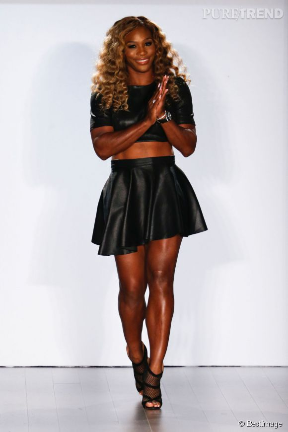 Serena Williams, star de la Fashion Week pour son défilé HSN.