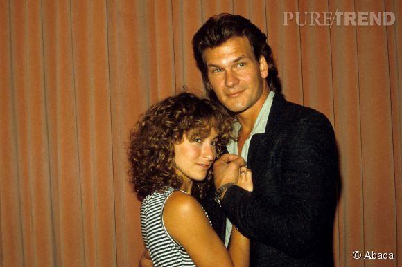"""Jennifer Grey et Patrick Swayze, son partenaire dans le film culte """"Dirty Dancing"""" sorti en 1987."""