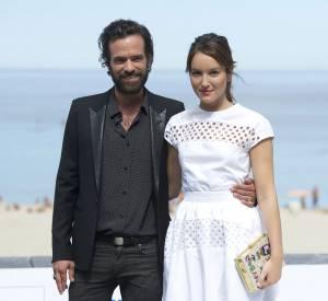 """Romain Duris et Anaïs Demoustier assurent la promotion de """"Une nouvelle amie"""", en salles le 5 novembre."""