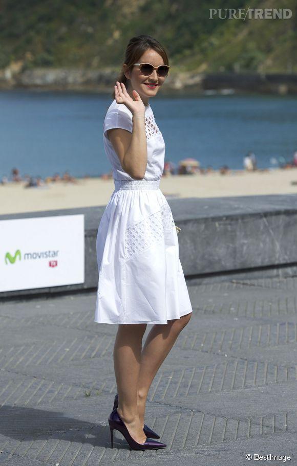 Anaïs Demoustier, craquante dans son look rétro samedi au festival du film de San Sebastian.