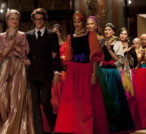 """Le défilé Couture """"Ballets Russes"""" d'Yves Saint Laurent en 1976 reproduit par l'équipe du film """"Saint Laurent"""" de Bertrand Bonello."""