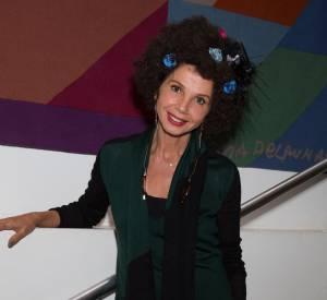 Victoria Abril, l'audace capillaire au festival du film espagnole de Londres, le 4 octobre 2014.
