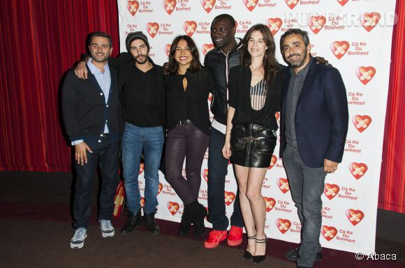 """Le casting de """"Samba"""" lors de la première à Paris le 14 octobre 2014."""