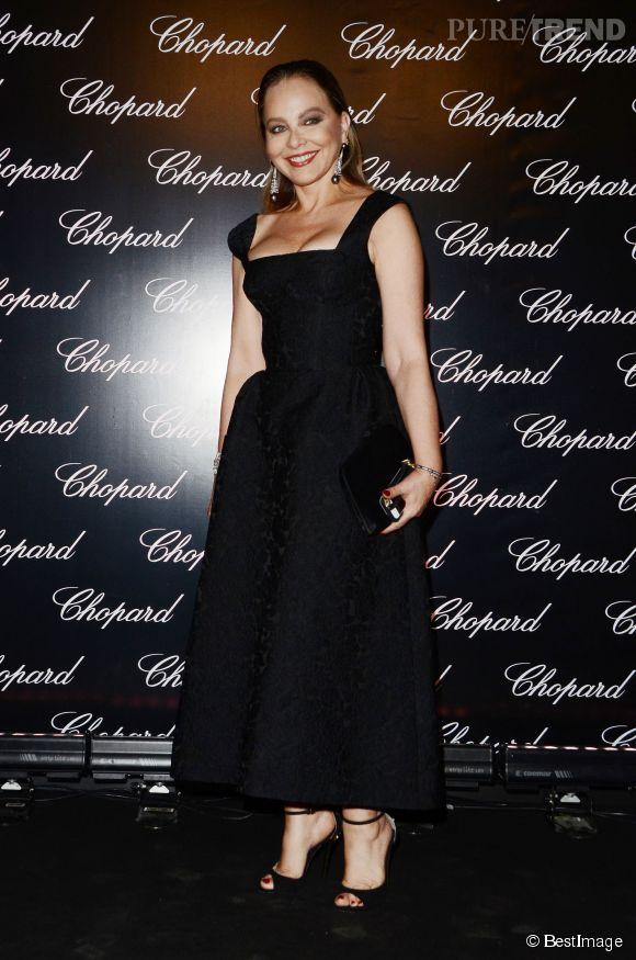 Ornella Muti était invitée à la soirée d'inauguration de l'entrée des studios CineCittà, rénovée par Chopard.