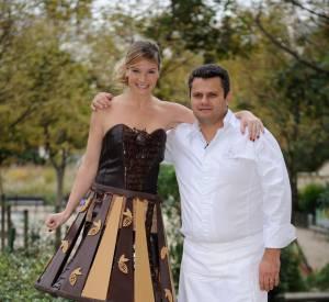 Louise Ekland et le chocolatier Vincent Guerlais.